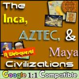 Inca, Aztec, and Maya Civilizations!  A Webquest Over Meso