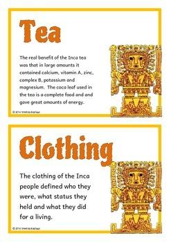 The Incas Fact Cards