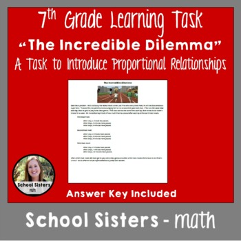 The Incredible Dilemma: Task to Discover Meaning of Proportional Relationship