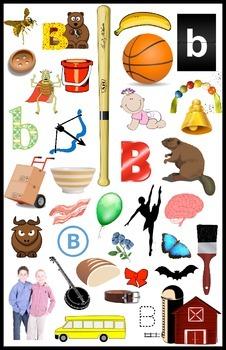 First Sound Fluency - I Spy! Literacy RTI Letter B or Buh - PK K 1st SPED ESL