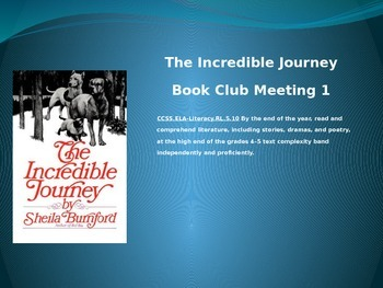 The Incredible Journey Book Club Unit