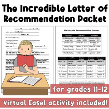 The Incredible Letter of Recommendation Packet