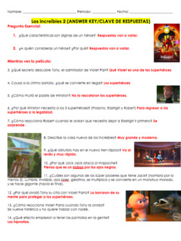 The Incredibles 2 Movie Guide in SPANISH. Los increíbles 2.