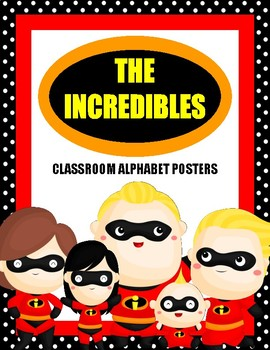 The Incredibles: Classroom Decor Alphabet Posters