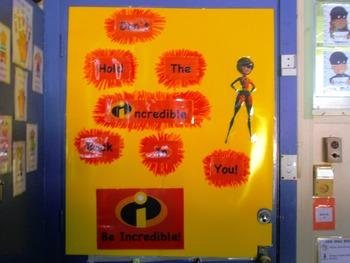 The Incredibles Door Display