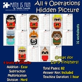 The Incredibles - Mystery Picture - 4 operations - Four le