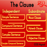 The Independent and Subordinate Clauses Worksheet Bundle,