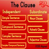 ⭐Independent Clause ❘ Subordinate Clause ❘ Bundle ❘ 7th Grade Grammar