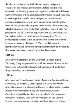 The Indian Appropriation Act Handout