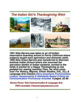 The Indian Girl's Thanksgiving Wish