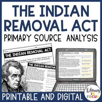 Indian Removal Act Worksheets