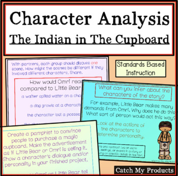 The Indian In Cupboard Novel Study Character Setting By Catch My Products