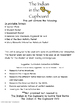 The Indian in the Cupboard Novel Study Book Unit Printable Version
