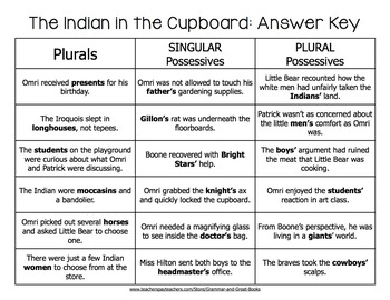 The Indian in the Cupboard: Plurals & Possessives