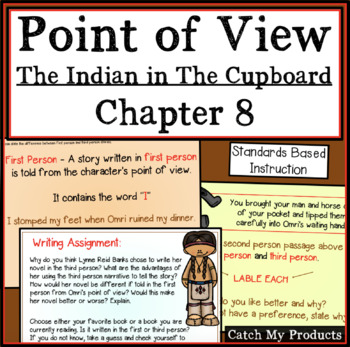 The Indian in the Cupboard Novel Study Point of View for PROMETHEAN Board