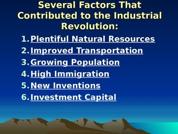 The U.S. Industrial Age 215 Slides!  Huge History Power Point Presentation
