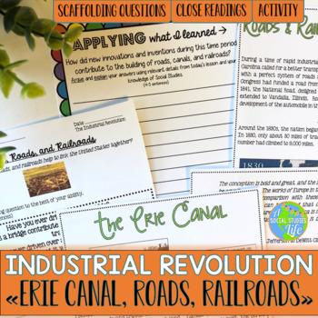 Industrial Revolution - Erie Canal, Roads, Railroads