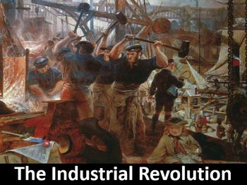The Industrial Revolution Power Point, Worksheet, Printable Student Notes