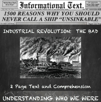 The Industrial Revolution--The Bad