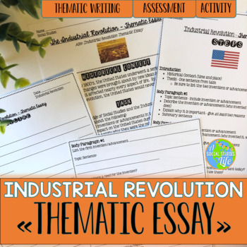 Mahatma Gandhi Essay In English Industrial Revolution Thematic Essay Thesis For A Persuasive Essay also Compare Contrast Essay Examples High School Industrial Revolution Thematic Essay By A Social Studies Life  Tpt Causes Of The English Civil War Essay