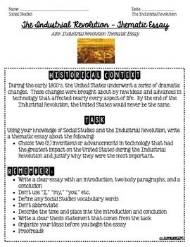 thematic essay introduction