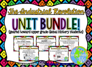 Industrial Revolution in England UNIT BUNDLE {upper grades}