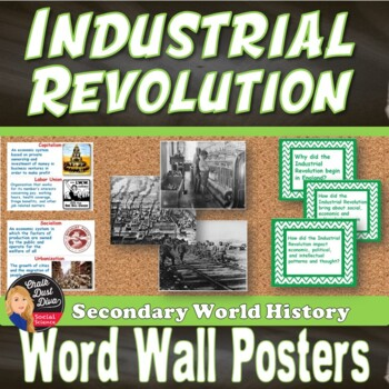 The Industrial Revolution WORD WALL (World History) - Grades 8-12