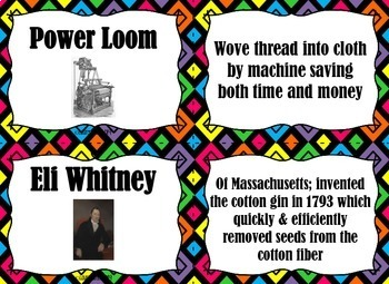 Industrial Revolution FLASH CARDS