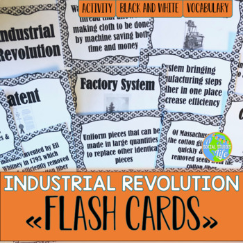 Industrial Revolution FLASH CARDS - Black and White
