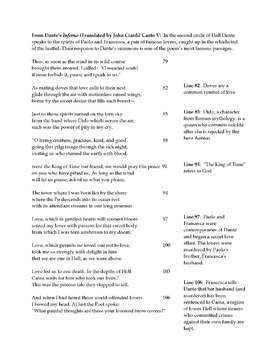 The Inferno (Reader's Theater script-stories + unit activities)