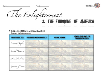 The Influence of the Enlightenment Activity
