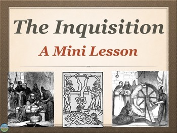 The Inquisition Mini Lesson with 4 Activities