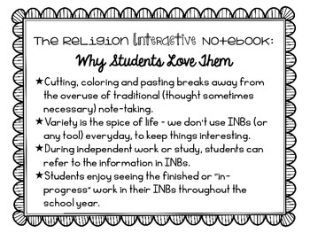 The Ins and Outs of Using a Religion Interactive Notebook - Freebie!