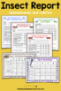 Insect Report Writing Templates - Informative Writing Activity