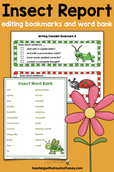 Bugs and Insects Activities - Insect Report Writing Templates (Digital & PDF)