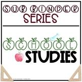 The Insite Sub Binder - School Studies EDITABLE