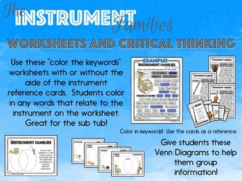 The Instrument Families - Activity BUNDLE