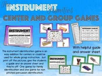 The Instrument Families - Activity BUNDLE