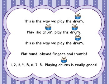 The Instrument Song - introducing percussion instruments to young students