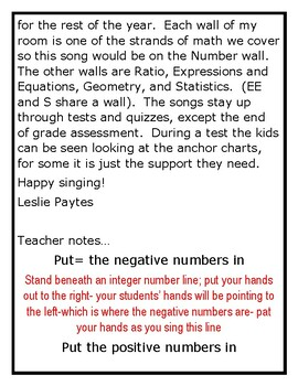 The Integer Song