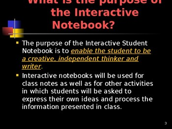 The Interactive Middle School Student Notebook