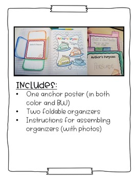 The Interactive Notebook - Author's Purpose