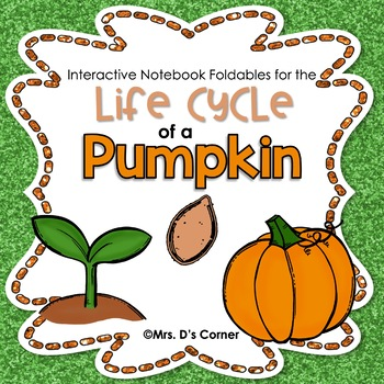 FREE Interactive Notebook The Life Cycle of a Pumpkin
