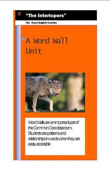 """""""The Interlopers"""" : A Word Wall Unit"""