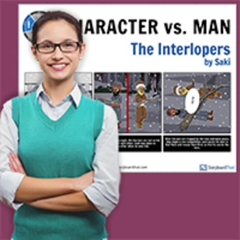 The Interlopers: Literary Conflict - Character vs. Man - Man vs. Man Poster