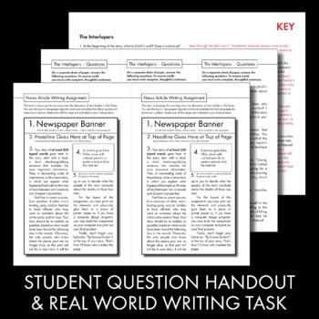 Interlopers, Saki short story, 45-min. lesson, lit. analysis & writing task