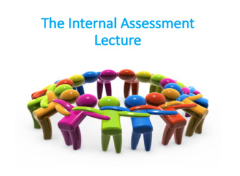 The Internal Assessment Lecture (Strategic Management)