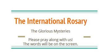 The International Rosary: A World Languages Prayer Service FREE Activity