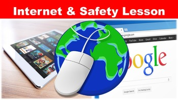 The Internet No Prep Lesson with Power Point, Worksheet, C