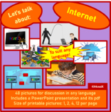 The Internet Picture cards for discussion